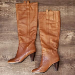 Nine West tan/brown tall boots size 5.5